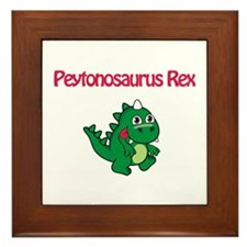 Peytonosaurus Rex Framed Tile