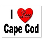 I Love Cape Cod Small Poster