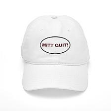 Mitt Quit! Oval Baseball Cap