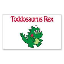 Toddosaurus Rex Rectangle Decal