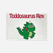 Toddosaurus Rex Rectangle Magnet
