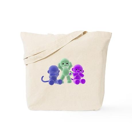 See No Evil Monkeys Tote Bag