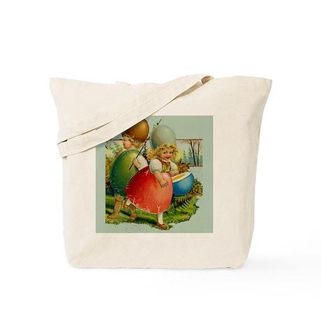 Easter Egg Kids HUGE Canvas Tote Bag