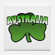 Australia Shamrock Tile Coaster
