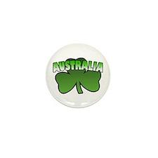 Australia Shamrock Mini Button (10 pack)