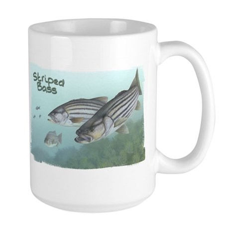 Striped Bass, Fish Large Mug
