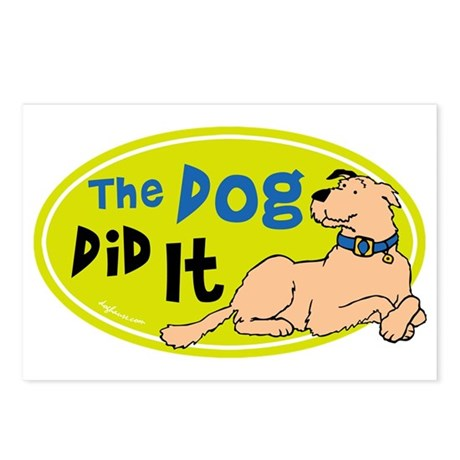The Dog Did It Postcards (Package of 8)