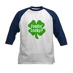 Feelin Lucky? Funny St. Patrick's Day Kids Basebal