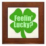 Feelin Lucky? Funny St. Patrick's Day Framed Tile