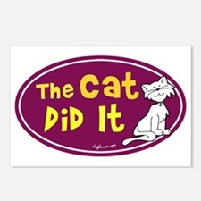 The Cat Did It Postcards (Package of 8)
