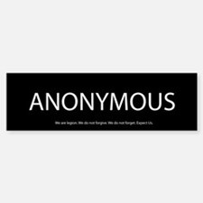 Anonymous Bumper Bumper Bumper Sticker