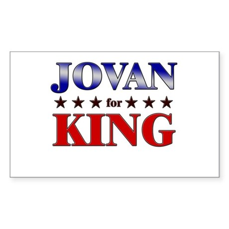 JOVAN for king Rectangle Sticker