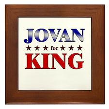 JOVAN for king Framed Tile