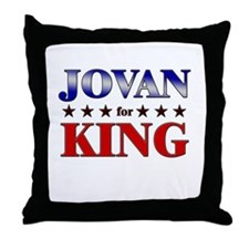 JOVAN for king Throw Pillow
