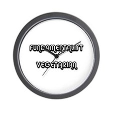 Fundamentalist Vegetarian (PETA) Wall Clock
