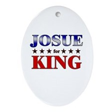 JOSUE for king Oval Ornament