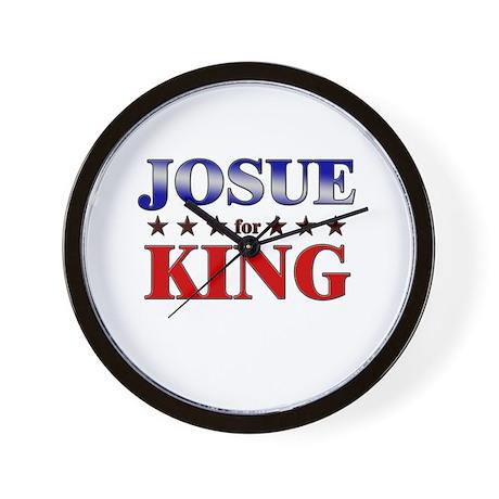 JOSUE for king Wall Clock