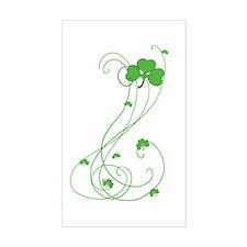 Irish Shamrock Art Rectangle Bumper Stickers