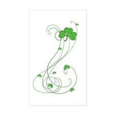 Irish Shamrock Art Rectangle Decal