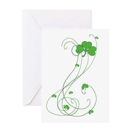 Irish Shamrock Art Greeting Card