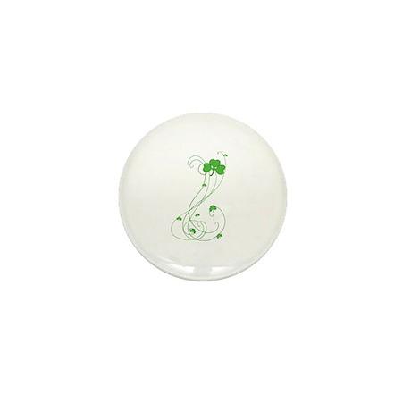 Irish Shamrock Art Mini Button