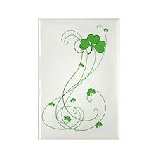 Irish Shamrock Art Rectangle Magnet