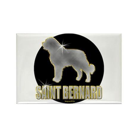 Bling St. Bernard Rectangle Magnet (100 pack)