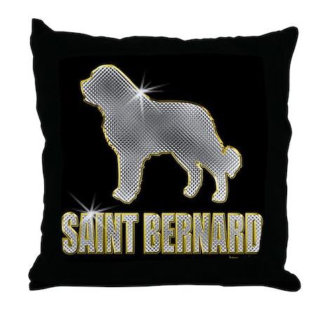 Bling St. Bernard Throw Pillow