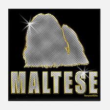 Bling Maltese Tile Coaster