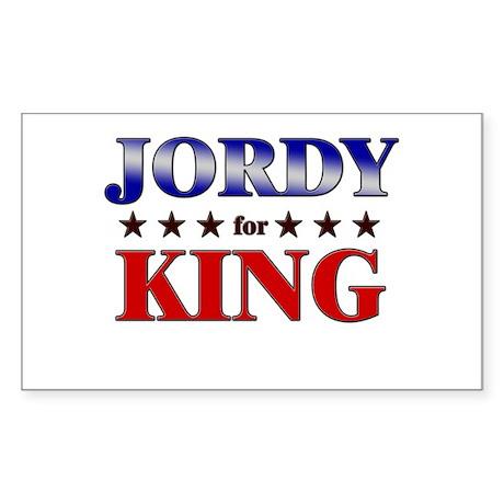 JORDY for king Rectangle Sticker