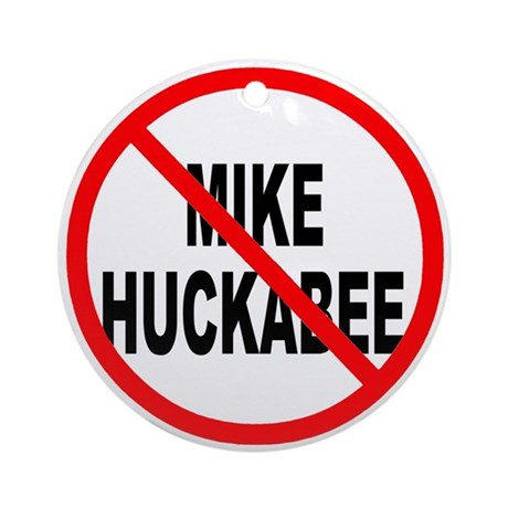 Anti Mike Huckabee Ornament (Round)