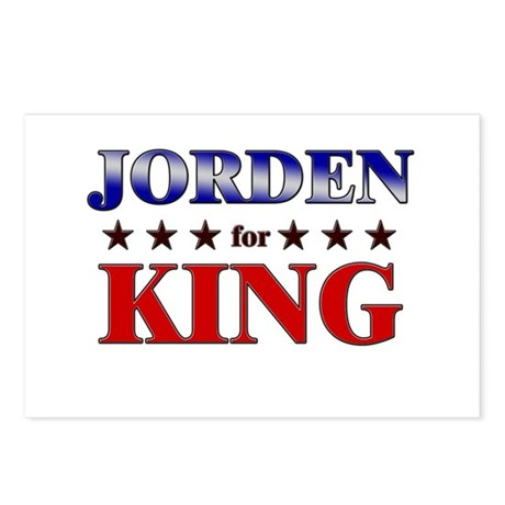 JORDEN for king Postcards (Package of 8)