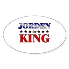 JORDEN for king Oval Decal