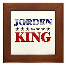 JORDEN for king Framed Tile