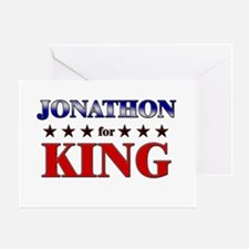 JONATHON for king Greeting Card