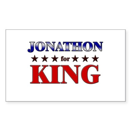JONATHON for king Rectangle Sticker