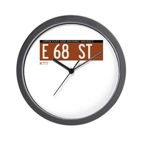 68th Street in NY Wall Clock
