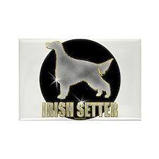 Bling Irish Setter Rectangle Magnet (10 pack)