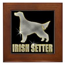 Bling Irish Setter Framed Tile