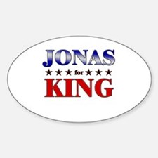 JONAS for king Oval Decal