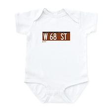 68th Street in NY Infant Bodysuit
