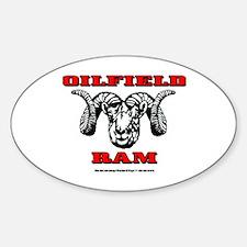 Oilfield Ram Oval Bumper Stickers