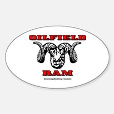 Oilfield Ram Oval Decal
