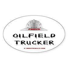Oilfield Trucker Oval Bumper Stickers