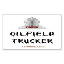 Oilfield Trucker Rectangle Bumper Stickers
