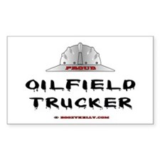 Oilfield Trucker Rectangle Decal