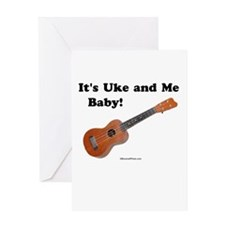 It's Uke and Me Baby Greeting Card
