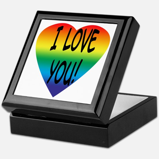 Rainbow Heart Keepsake Box