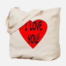 Red Heart I Love You! Tote Bag
