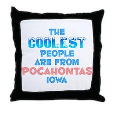 Coolest: Pocahontas, IA Throw Pillow